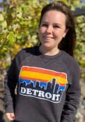 Detroit Skyline Crew Sweatshirt - Black