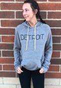 Detroit Grey Disconnected Long Sleeve Fleece Hood Sweatshirt
