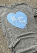 Kansas City Monarchs Rally Heart Kansas City Fashion T Shirt - Grey