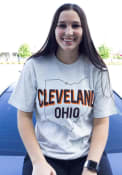 Cleveland Oatmeal State Outline Short Sleeve T Shirt