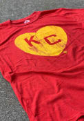 Kansas City Monarchs Rally Heart Kansas City Fashion T Shirt - Red
