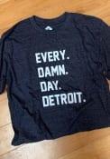 Detroit Navy Every Damn Day Short Sleeve T Shirt