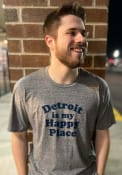 Detroit Grey Happy Place Short Sleeve T Shirt