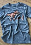 Texas Youth Heather Grey T-Rex Brisket Short Sleeve T Shirt