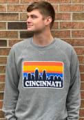 Cincinnati Skyline Crew Sweatshirt - Grey