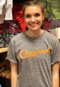 Cleveland Heather Grey Sign Wordmark Short Sleeve T Shirt