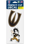 Emporia State Hornets 4x4 inch 2 Pack Auto Decal - Black