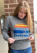 Detroit Heather Grey Spirit of Sunset Long Sleeve T Shirt