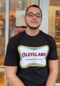 Cleveland Black Champagne Short Sleeve T Shirt