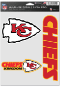Kansas City Chiefs Triple Pack Auto Decal - Red