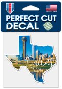 Dallas Ft Worth 4x4 State Shape Auto Decal - Blue