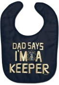 Philadelphia Union Baby Dad Says Im a Keeper Bib - Blue