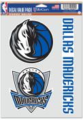 Dallas Mavericks Triple Pack Auto Decal - Blue