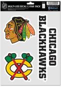 Chicago Blackhawks Triple Pack Auto Decal - Black