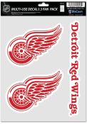 Detroit Red Wings Triple Pack Auto Decal - Red