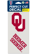 Oklahoma Sooners 4x4 2 Pack Auto Decal - Red