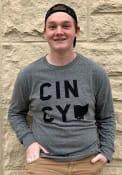 Cincinnati Heather Grey CINCY Home Long Sleeve T Shirt