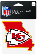 Kansas City Chiefs 4x4 State Shaped Auto Decal - Red