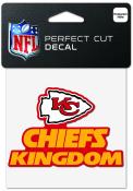 Kansas City Chiefs 4x4 Slogan Auto Decal - Red