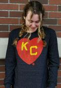 Kansas City Monarchs Rally Heart Kansas City Fashion T Shirt - Black