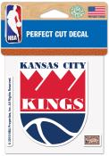 Kansas City Kings 4x4 Auto Decal - Red