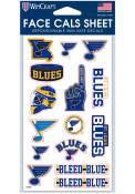 St Louis Blues 4x7 Face Tattoo