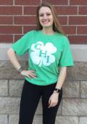 Chicago Heather Green Shamrock Initials Short Sleeve T Shirt
