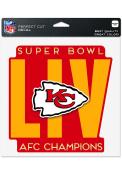 Kansas City Chiefs 2019 Super Bowl LIV Participant Auto Decal - Red