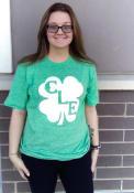 Cleveland Heather Green Shamrock Initials Short Sleeve T Shirt
