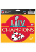 Kansas City Chiefs Super Bowl LIV Champions 4x5x6 Multi Use Auto Decal - Red
