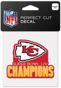 Kansas City Chiefs Super Bowl LIV Champions 4x4 Auto Decal - Red