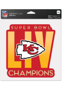 Kansas City Chiefs Super Bowl LIV Champions 8x8 Auto Decal - Red