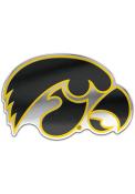Iowa Hawkeyes Auto Badge Car Emblem - Black