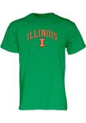 Illinois Fighting Illini Green Arch Mascot Tee
