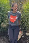 Cincinnati Women's State Shape Wordmark Cropped Short Sleeve T-Shirt