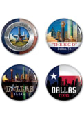 Dallas Ft Worth 4pk Button