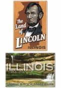 Chicago Land of Lincoln 2pk Magnet