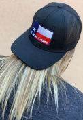 Dallas Ft Worth State Badge Roamer Trucker Adjustable Hat - Black