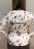 Cleveland Women's Amethyst Tie Dye Wordmark Long Sleeve T Shirt