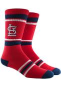 St Louis Cardinals Mens Red Stripe Crew Socks