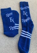 Kansas City Royals Mens Blue Stacked Crew Socks