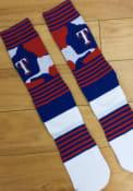 Texas Rangers Mens Blue Color Camo Crew Socks