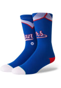 Stance Texas Rangers Mens Blue Road 1984 Crew Socks