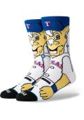 Stance Texas Rangers Mens Blue Captain Crew Socks