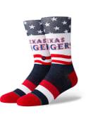 Stance Texas Rangers Mens Blue Stars and Bars Crew Socks