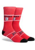Chicago Bulls Hi Wire Crew Socks - Red