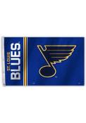 St Louis Blues 3x5 Logo Grommet Blue Silk Screen Grommet Flag