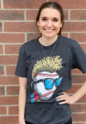 GV Art + Design Cleveland Wild Hair Short Sleeve T-Shirt - Heather Black
