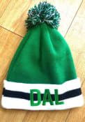 Dallas Ft Worth New Era Stripe Cuff Pom Knit - Green