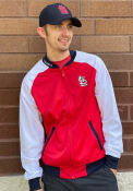 New Era St Louis Cardinals Red Tricot Raglan Track Jacket